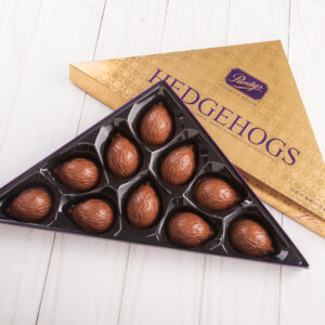 A wrapped box of Purdy's hedgehogs.